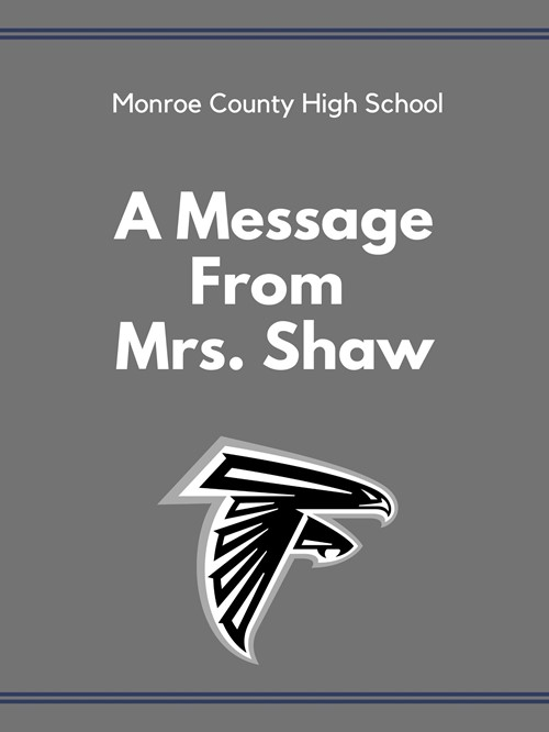 A Message From Mrs. Shaw