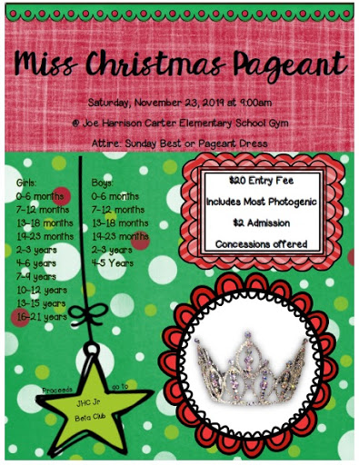 Miss Christmas Pageant