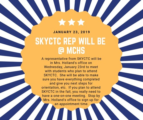 SKYCTC Rep Scheduled