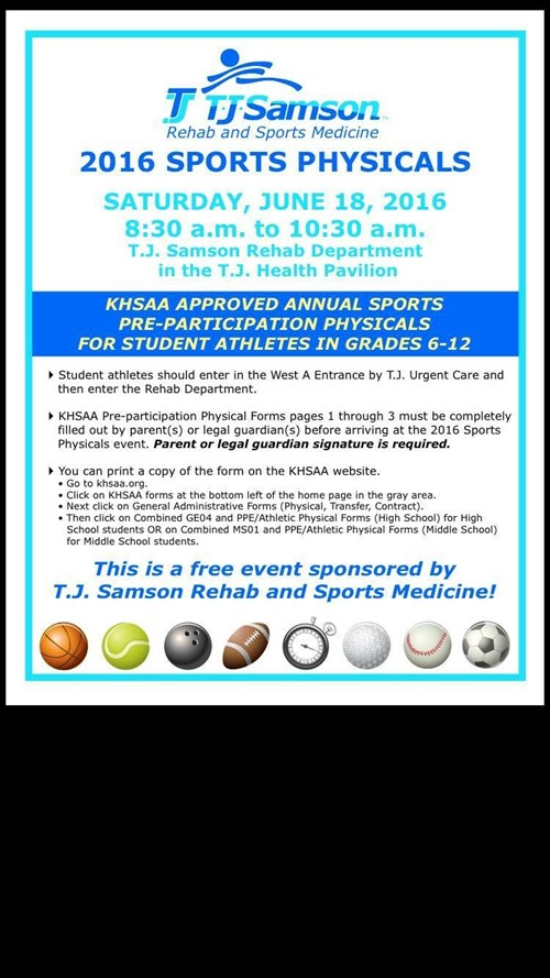 free sports physical monroe county middle school